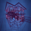 3d new modern architecture — Stockfoto