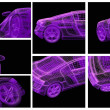 3d automobile - Foto Stock