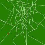 GPS map — Stock Photo