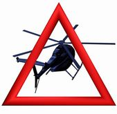Helicopter isolated — Stock Photo