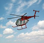 Helicopter isolated — Stockfoto