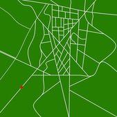 Gps-kaart of — Stockfoto