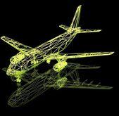 3d aircraft — Stock Photo