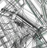 3d new modern architecture — Stok fotoğraf