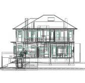 3d arquitectura moderna nova — Fotografia Stock