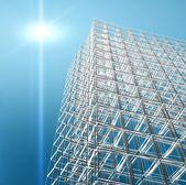 Arquitectura moderna nueva 3d — Foto de Stock