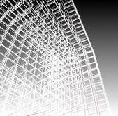 3d neue, moderne architektur — Stockfoto