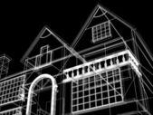 3d architettura moderna nuova — Foto Stock