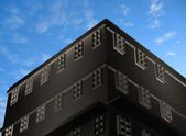 3d nové moderní architektura — Stock fotografie