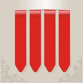 在灰色的框上的红色标签 — 图库矢量图片