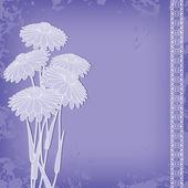 Abstrakt vintage blommor — Stockvektor