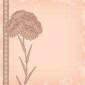 Soyut vintage çiçekler — Stok Vektör