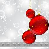 Boże narodzenie kula na zimowe streszczenie szary — Wektor stockowy