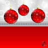 クリスマス ボールの抽象的な冬の灰色 — ストックベクタ