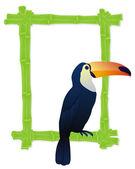 Tropical bird frame — 图库矢量图片