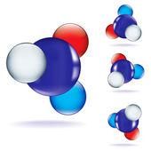 Conjunto de iconos molecular — Vector de stock