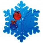 Новогодняя рамка снежинка — Cтоковый вектор