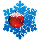Christmas snowflake frame — Stock Vector