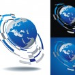 Royalty-Free Stock Vector Image: Abstract globe icon set
