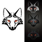 Fox icon — Stock Vector