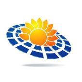 Solar icon — Stock Vector