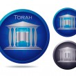 Stock Vector: Torah icon set