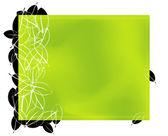 Green leave frame — Stock Vector