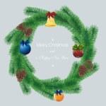 Christmas card on gray — Stock Vector #6754485