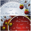New year cards with golden decor — Stock Vector #7652403