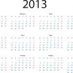 2013 Calendar — Stock Vector #12589845