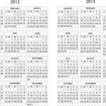 2012 -2013 calendar — Stock Vector #14509355