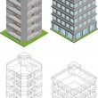 Isometric buildings — Stock Vector #14631895
