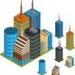 Isometric buildings — Stock Vector #14631965