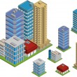Isometric buildings — Stock Vector #14631975