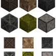 Isometric crates - Stock Photo
