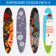 Surfboard design pack 4 — Stock Vector