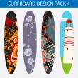 Surfboard design pack 4 - Stock Vector