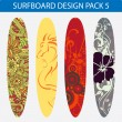 Stock Vector: Surfboard design pack 5
