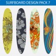 Stock Vector: Surfboard design pack 7