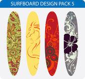 Surfboard design pack 5 — Stock Vector