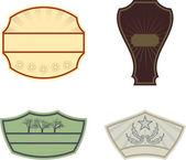 Vintage etiketter — Stockvektor