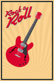 Rock and roll — Stock Vector