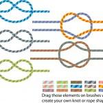 Climbing rope pattern — Stock Vector