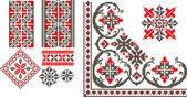 Romanian traditional patterns — Vettoriale Stock