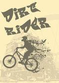 Biker splash — Stock Vector