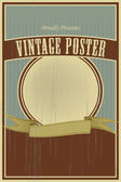 Vintage poster — Stock Vector