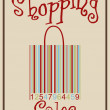 Barcode shopping bag - Stock Vector