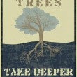 Storms make trees take deeper roots - Stok Vektör
