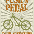 Push a pedal - Stock Vector