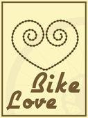 Mit ihrem fahrrad fahren — Stockvektor